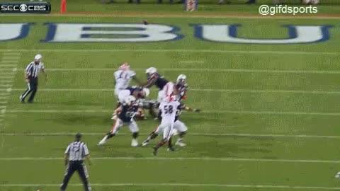 Auburn tipped ball hail mary touchdown GIF