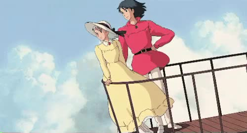 Watch Now, my tomorrows are boundless. GIF on Gfycat. Discover more Hauru no ugoku shiro, edit, heee heeee how annoying are we, howl's moving castle, our:ghibli, our:gif, our:howl's moving castle, studio ghibli, studioghibligif GIFs on Gfycat