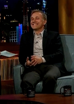 christoph waltz, cutestoph, that smile, the late late show, Gentle Knight GIFs