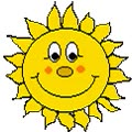 Watch and share Sun With Big Smile. animated stickers on Gfycat