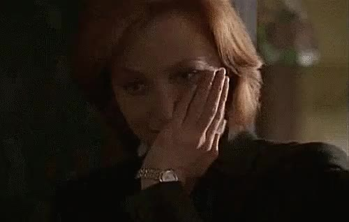 Watch (beware: spoilers) GIF on Gfycat. Discover more agent scully, dana scully, embarrassing, gilian anderson, gillian anderson, i love her, mine, reaction, reaction gif, the x files, trying not to laugh, welp i tried, x files GIFs on Gfycat