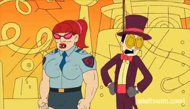 Watch and share Passing Notes | Superjail! | Adult Swim GIFs on Gfycat