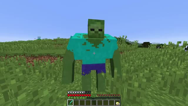 how to make a mutant zombie in minecraft ps3