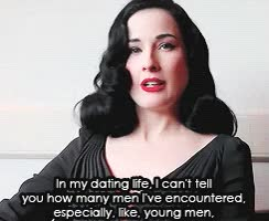 Watch and share Dita Von Teese *gif: Interview GIFs on Gfycat