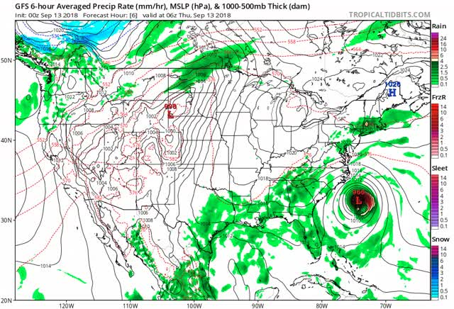 Watch Hurricane Florence - gfs mslp pcpn frzn us fh6-156 GIF by The Watchers (@thewatchers) on Gfycat. Discover more related GIFs on Gfycat