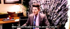 Watch and share Parks And Recreation GIFs and Iron Throne GIFs on Gfycat