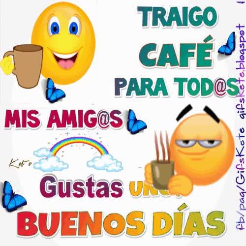 Watch and share Traigo Café Para Todos Mis Amig@s,¿gustas Uno? Buenos Días !! GIFs on Gfycat