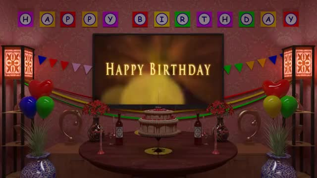 Watch Magical Happy Birthday Animation Song 2 Old Version GIF By DeeBrhm