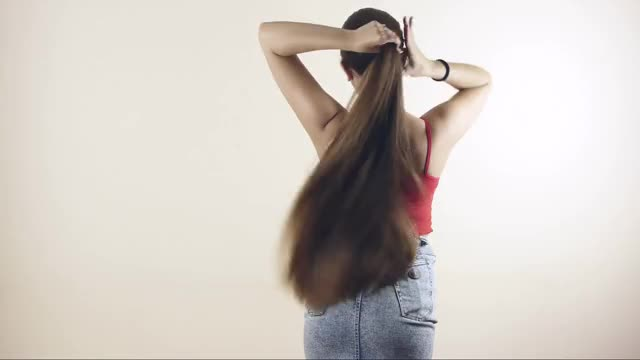 Watch Super Long Hair #10 GIF on Gfycat. Discover more TyingAPonytail, tyingaponytail GIFs on Gfycat