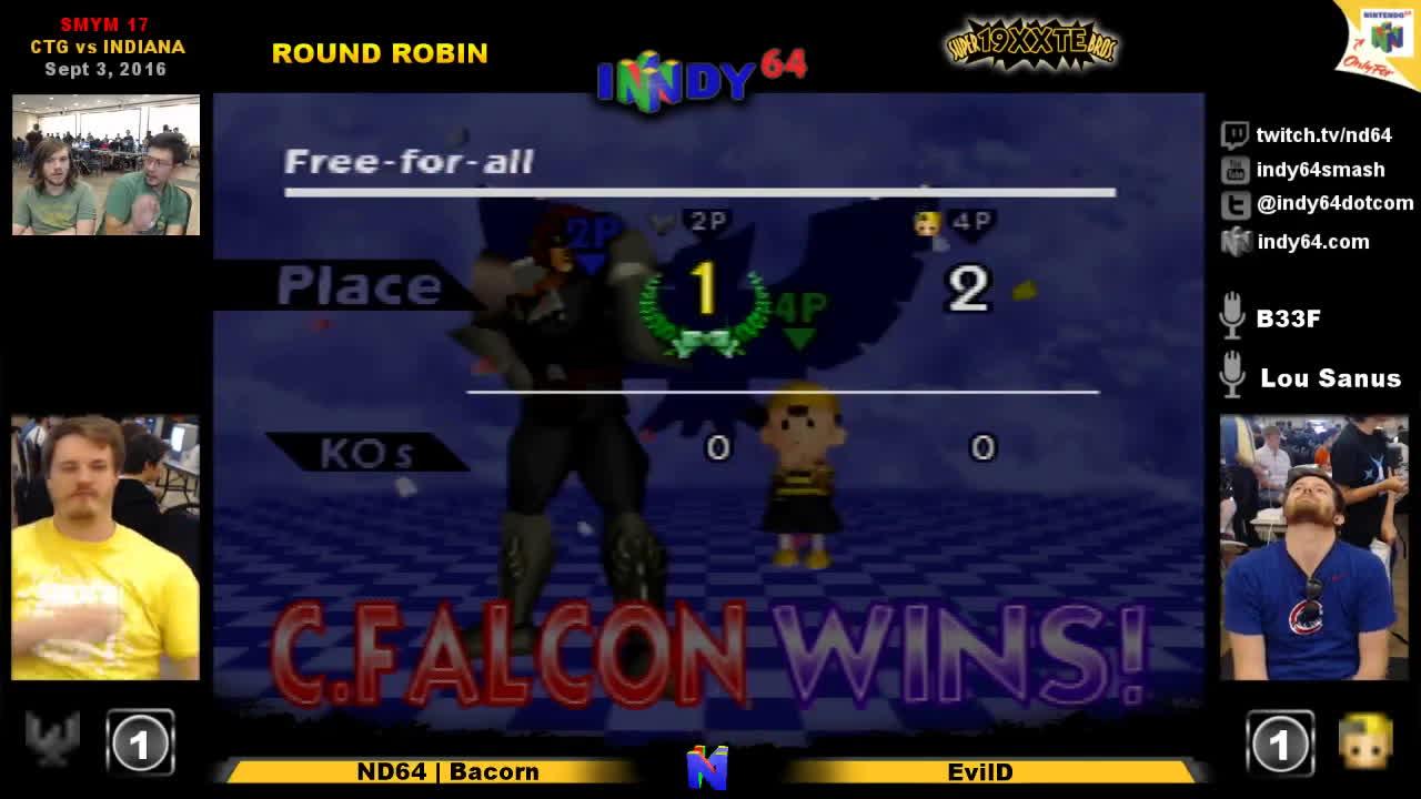 n64, smash bros, tournament, SMYM17 - SSB64 RR - Bacorn vs EvilD GIFs