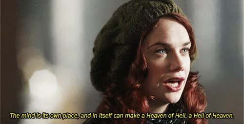 Watch The mind is its own place, and in itself can make a Heaven of Hell, a Hell of Heaven GIF by @opiates on Gfycat. Discover more alicemorgan, luther GIFs on Gfycat