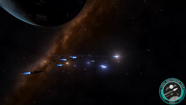 Players doing a Group-jump in Elite: Dangerous (reddit) GIF | Find
