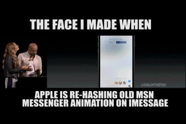 Watch Apple Announcement GIF on Gfycat. Discover more Apple, imessage, myspace GIFs on Gfycat