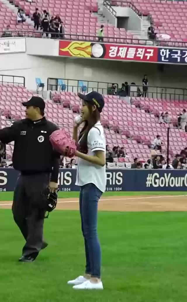 Watch and share 181006 IZONE Wonyoung - First Pitch GIFs by Atlas of Stars on Gfycat