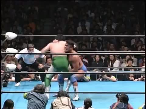 Watch and share Jun Akiyama Vs Mitsuharu Misawa (April 18, 1998) GIFs on Gfycat