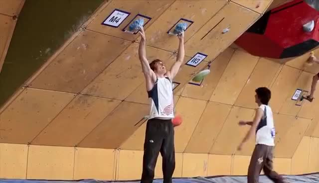 Watch and share Daniel Woods Wins Bouldering World Cup GIFs on Gfycat