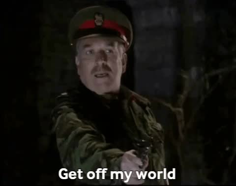 Watch and share Nicholas Courtney GIFs and Get Off My World GIFs by ninjyte on Gfycat