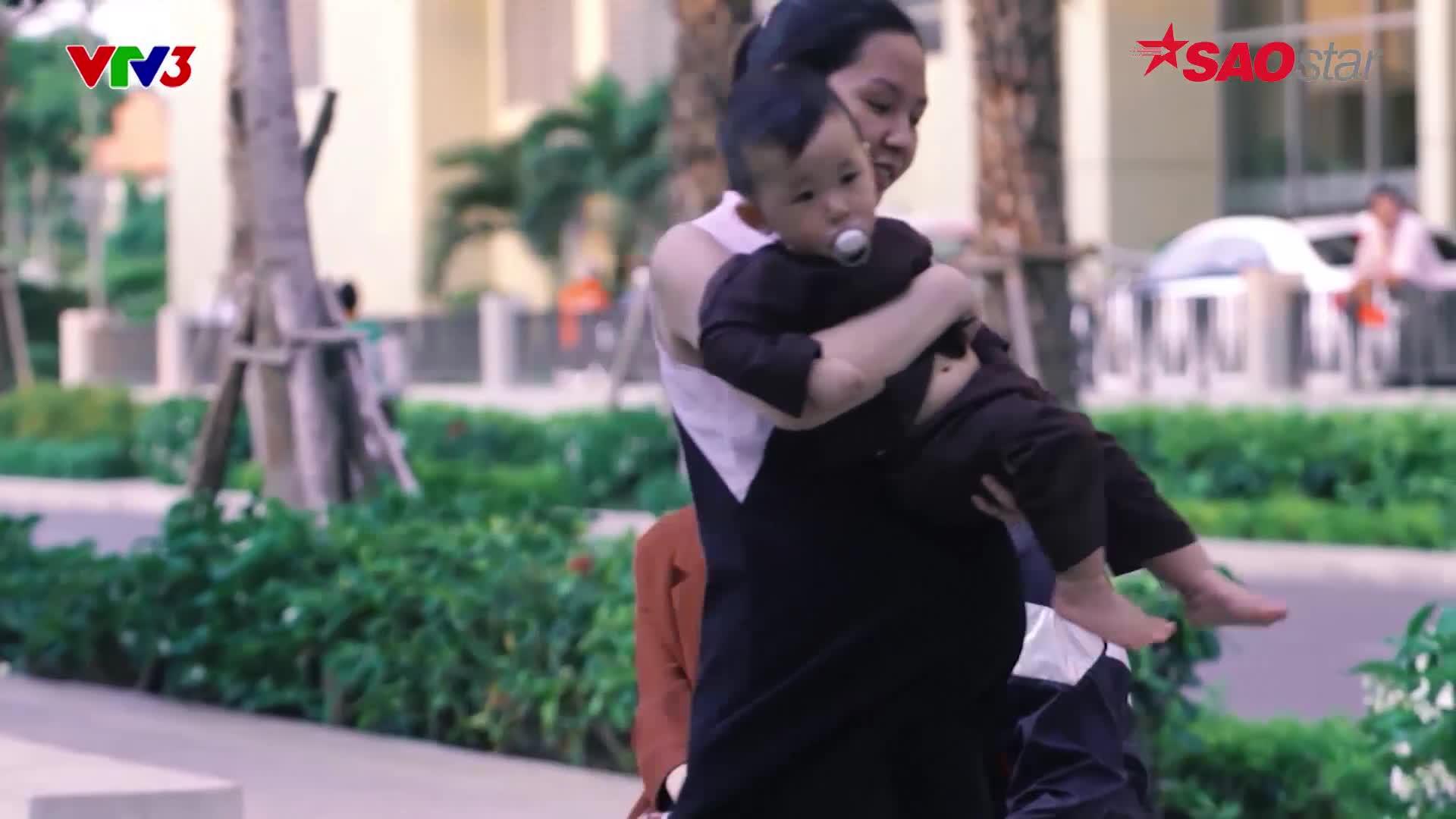 Trường Giang  Hương Giang mang tình yêu xuyên không, áo dài truyền thống vào phim ngắn về hiếm muộn