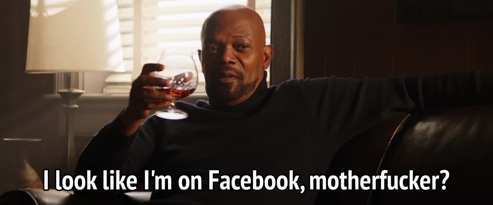 facebook, samuel l jackson, shaft, Shaft 2019 - I look like I'm on Facebook GIFs