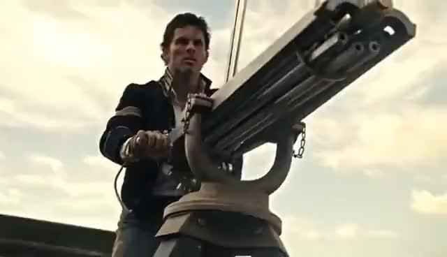 Watch and share [Westworld] Teddy Machine Gun Scene GIFs on Gfycat