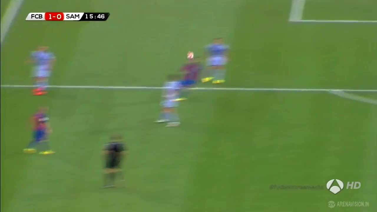 sports, Barcelona Vs Sampdoria 1-0 ● Luis Suarez Goal GIFs