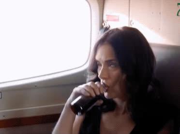 airplane bottle, alcohol, destination wedding, drinking, turn up, wine, winona ryder, Winona Ryder - Destination Wedding GIFs