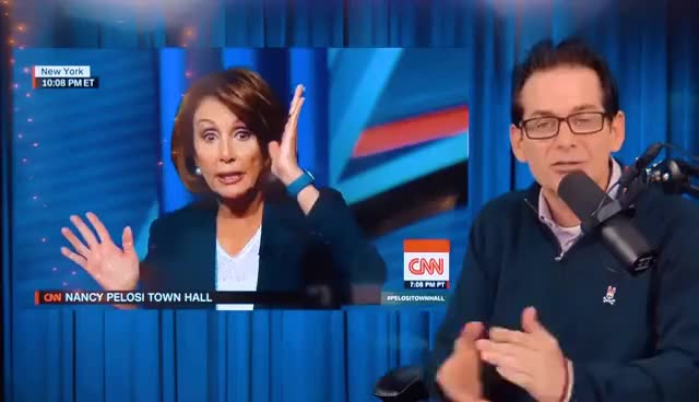 Watch and share Nancy Pelosi Repels Young People On CNN Town Hall GIFs on Gfycat