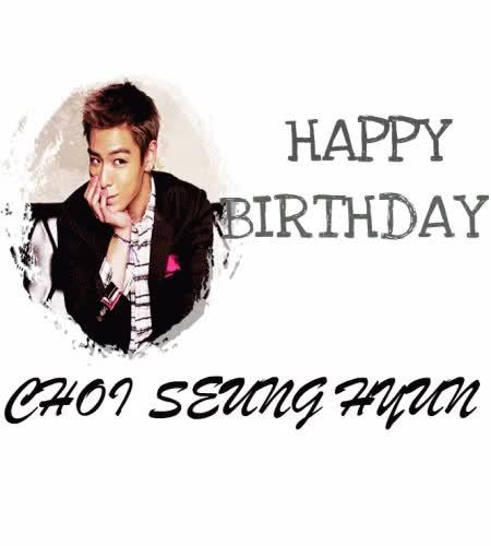Watch Happy Birthday Choi SeungHyun :) GIF on Gfycat. Discover more Choi Seung Hyun, T.O.P, big bang, birthday, mmgifs GIFs on Gfycat