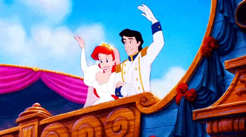 Watch and share Little Mermaid Wedding  GIFs on Gfycat