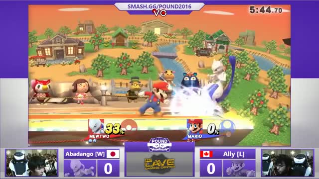 Pound 2016 - Abadango (Mewtwo) Vs. Ally (Mario) SSB4 Grand Finals - Smash Wii U - Smash 4