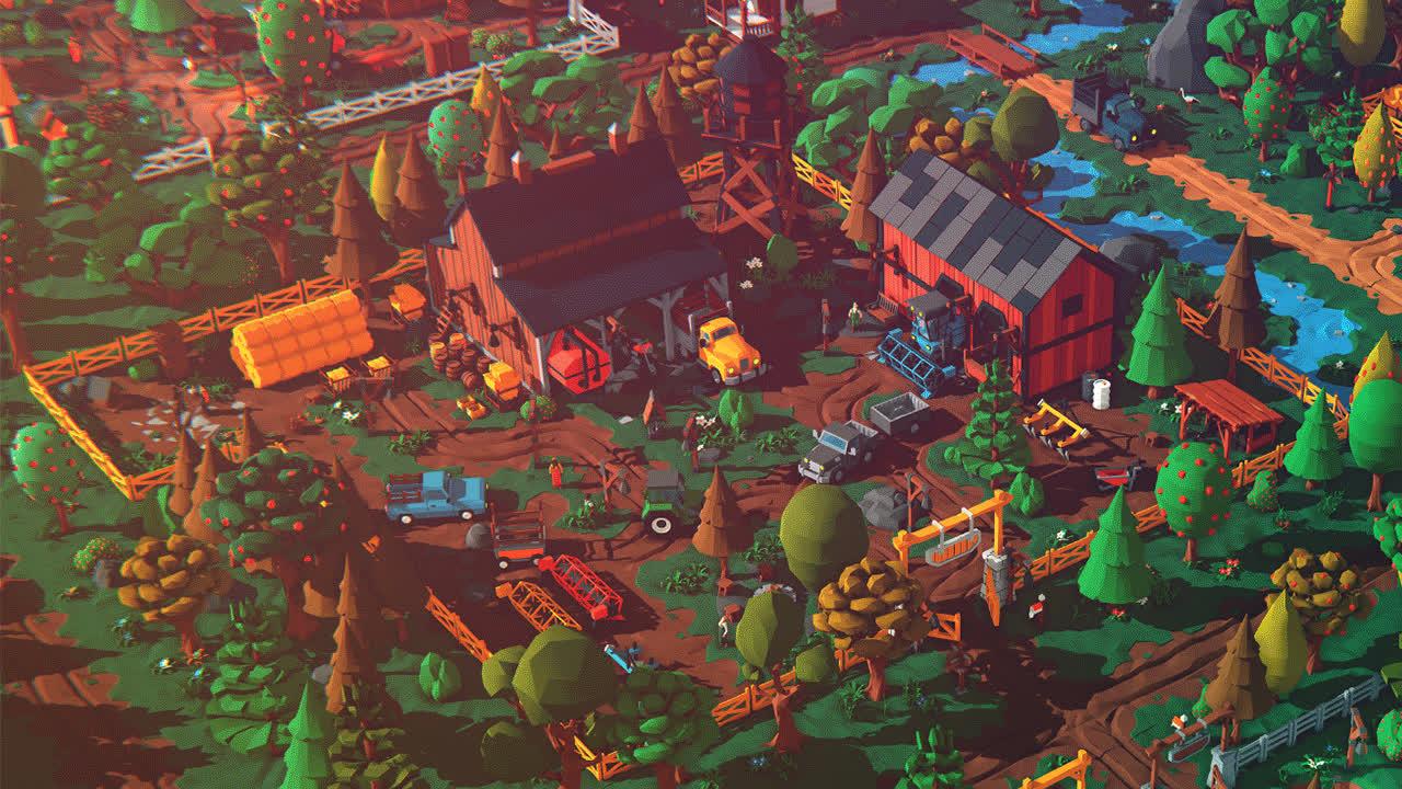 ar, farm, gamedev, lowpoly, unity3d, village, vr, Farm Life - Unity3D - AssetStore GIFs