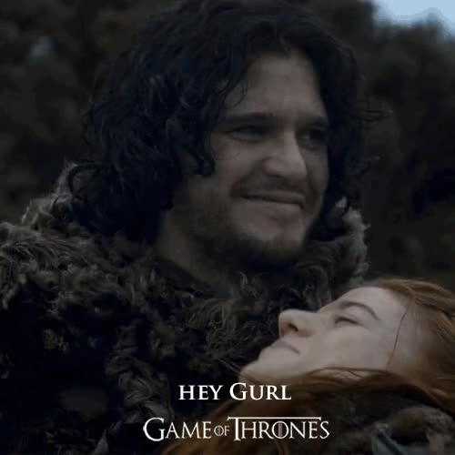 Watch this game of thrones GIF on Gfycat. Discover more game of thrones, hey girl, jon snow, kit harington GIFs on Gfycat