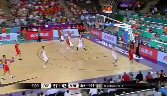 Watch Spain vs Montenegro FIBA EuroBasket  Full Game 1.9.2017 GIF on Gfycat. Discover more related GIFs on Gfycat