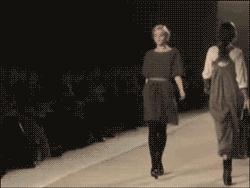 models falling GIFs