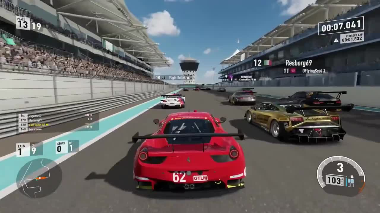 ferrari, forza, Forza 7 Ferrari Gets Murdered After 7 Seconds GIFs