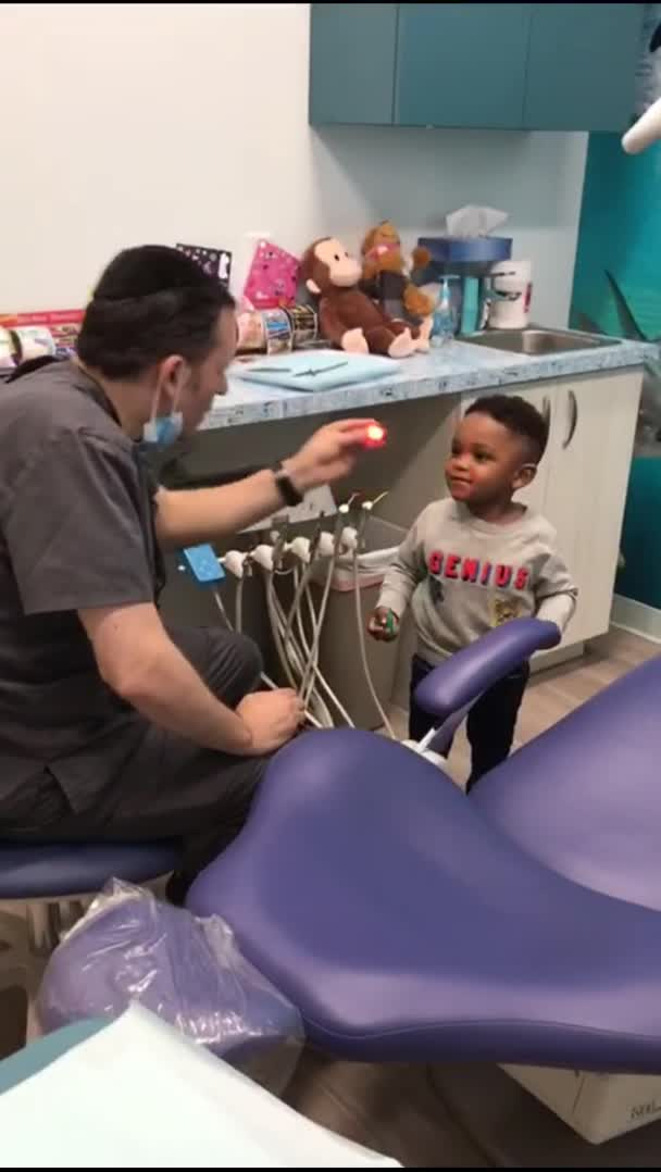 coronaboi78, Dentist helps his nervous patient get comfortable before his checkup GIFs