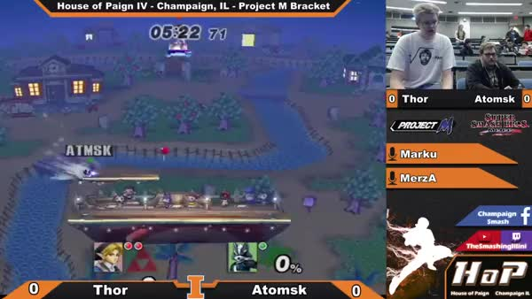 Watch and share [House Of Paign VI] Thor (Link) Vs Atomsk (Wolf) - Project M Bracket (reddit) GIFs on Gfycat
