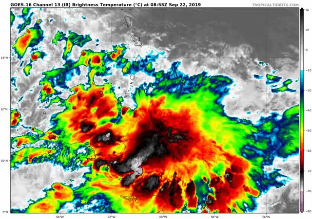 Watch and share Tropical Storm Karen Formation - September 22, 2019 GIFs by The Watchers on Gfycat