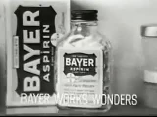 Watch and share Humurous Old TV Ads Of Bayer Aspirin GIFs on Gfycat