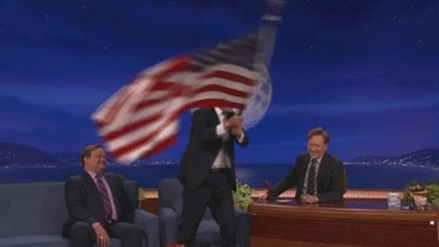 4th of july, america, conan, fourth of july, independence day, july 4, july 4th, will ferrell, Will Ferrell USA GIFs