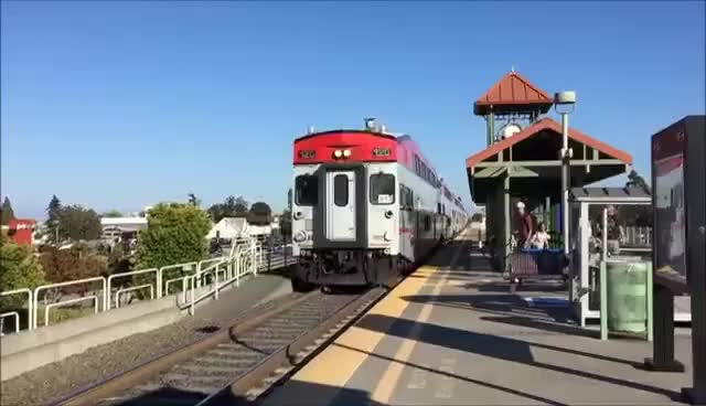 Watch and share Caltrain #381 Bypassing Belmont Station GIFs on Gfycat