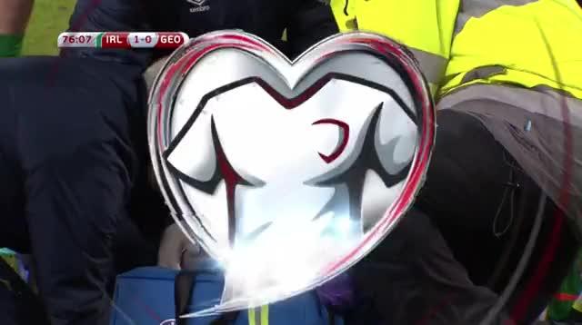 Watch Robbie Brady head injury GIF on Gfycat. Discover more ireland, soccer GIFs on Gfycat
