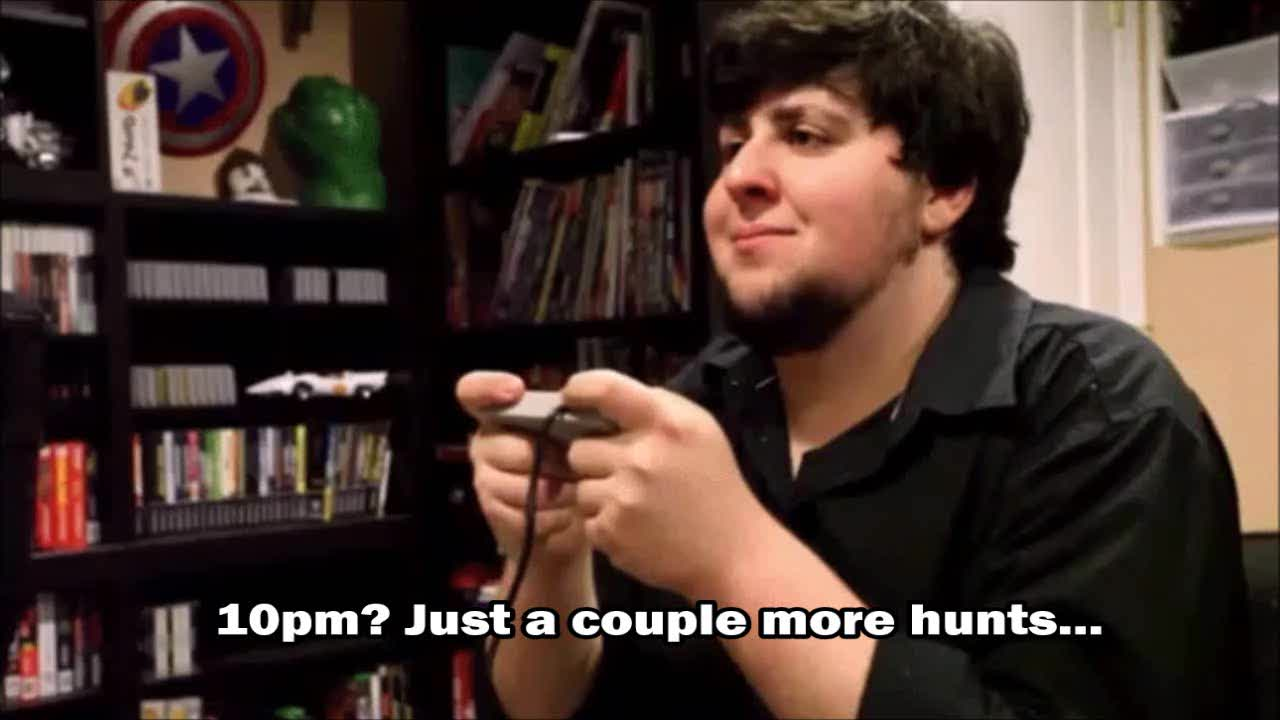 Jontron, monster hunter, monsterhunter, when u hunting with a good ass group GIFs