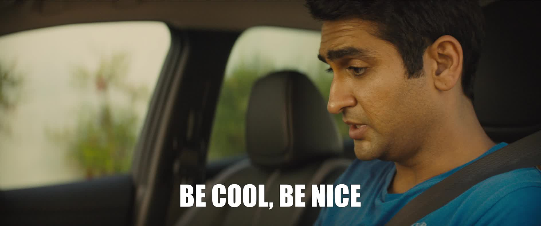 cool, kumail nanjiani, nervous, nice, stuber, stuber movie, Kumail Nanjiani Be Cool Be Nice GIFs