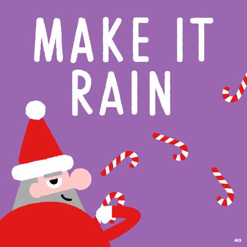 make it rain christmas.gif GIFs