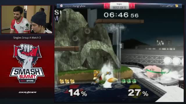Hungrybox vs Leffen - Melee Singles: Group B - Smash Summit Spring 2017