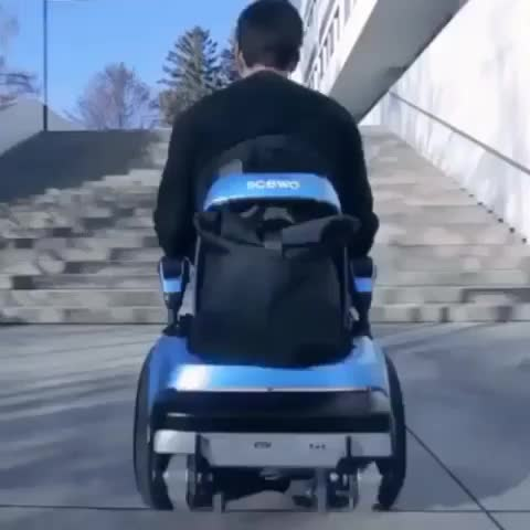 Watch Science doing all the right things again! - Follow @total_science for more awesome content! - GIF by @sezar4321 on Gfycat. Discover more engineering, future, science, tech, technology, total science, totalscience, wheelchair GIFs on Gfycat