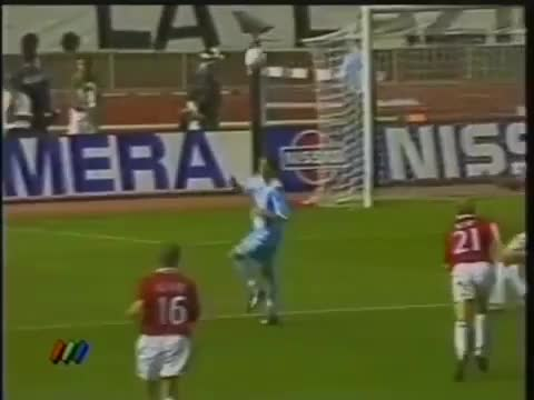 Watch and share SALAS - Lazio V Man Utd, 1999 SC GIFs on Gfycat