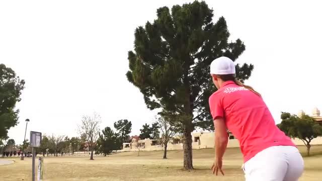 Watch Round Three 2019 Memorial Championship - Paige Pierce hole 4 drive GIF by Benn Wineka UWDG (@bennwineka) on Gfycat. Discover more Sports, dgpt, disc golf, disc golf pro tour GIFs on Gfycat