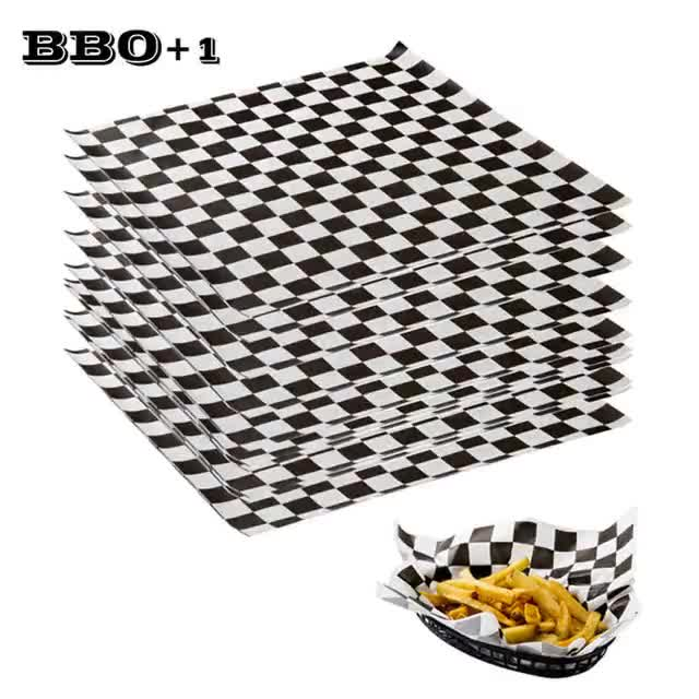 Watch 500pcs-Printed-Food-Grade-Wax-Paper-Black-checkered-Baking-Oil-Grease-Paper-For-Bread-Sandwich-Burger-Fries-Wrapping-Baking-Tool-bih0 GIF on Gfycat. Discover more related GIFs on Gfycat